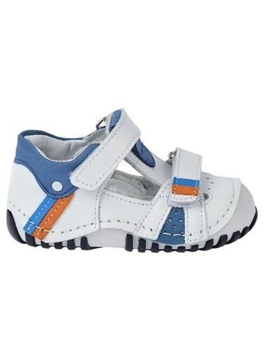 Kiko Kids Kiko Kids Teo 132 %100 Deri Orto pedik Cırtlı Erkek Çocuk Ayakkabı Beyaz